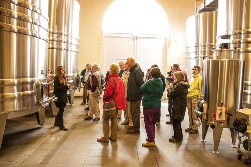 The vats at Chateau du Tertre