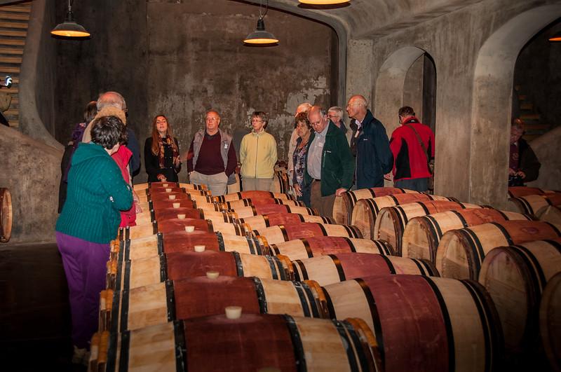 Barrels at Chateau du Tertre