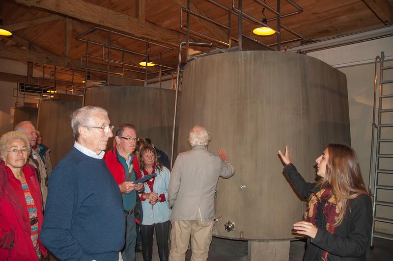 New concrete vat at Chateau du Tertre