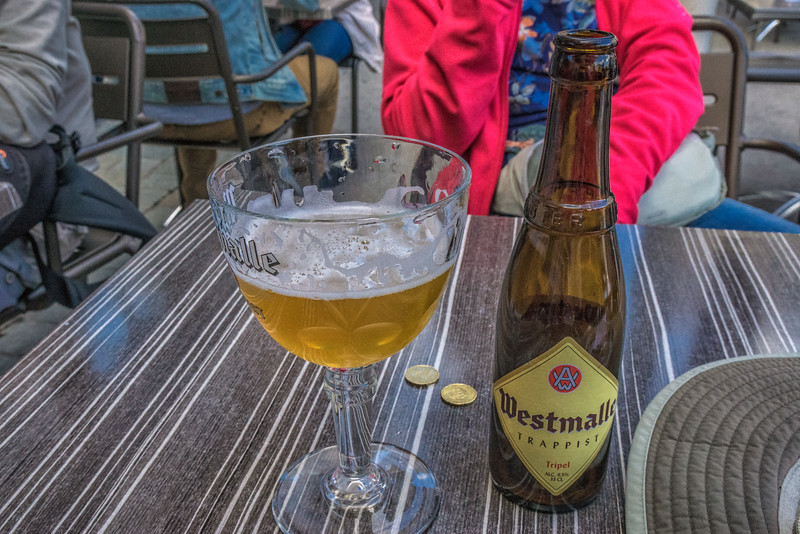 A beer at the Cathedral Square