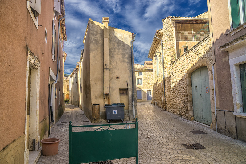 In the streets of Lussan