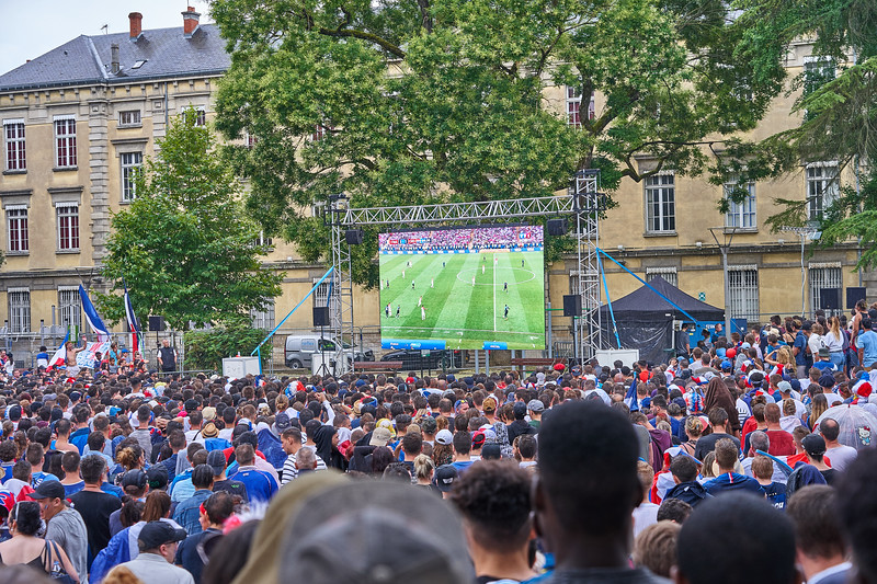 Watching the World Cup Final