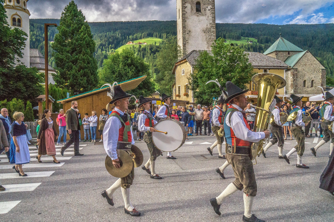The village band starting the San Candido annual festival