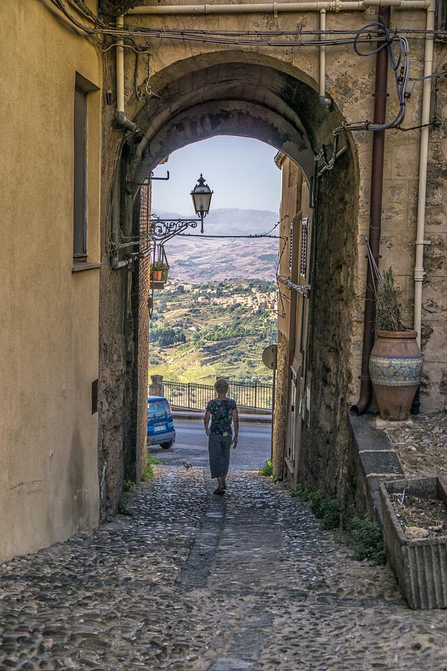 Walking round Enna