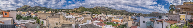 View from the roof of our flat in Lipari