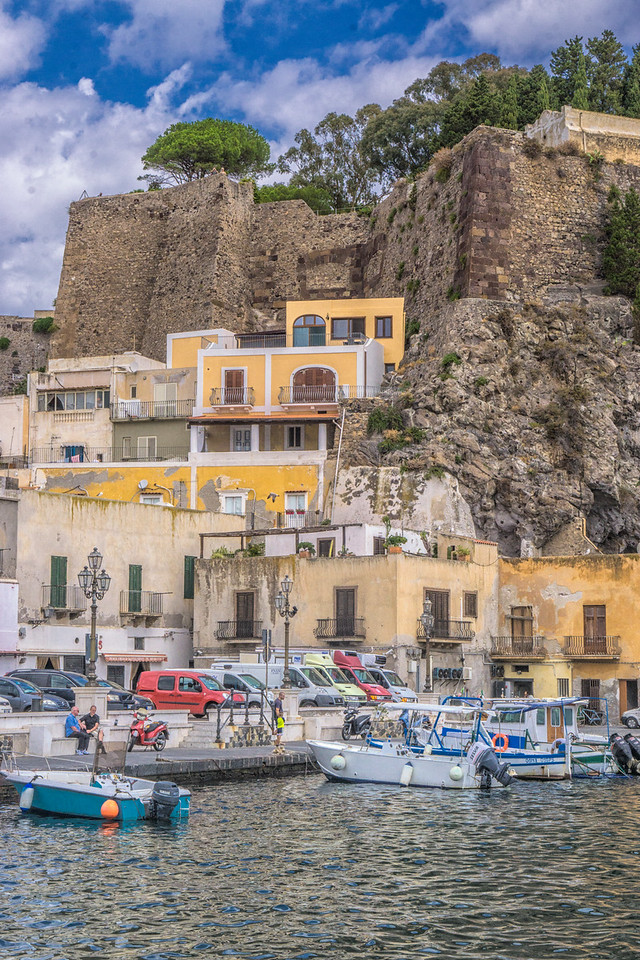 At the other harbour, Lipari. Not the ferry one!