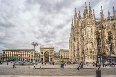 The Duomo, Milan. The exterior