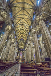 The Duomo, Milan. The interior