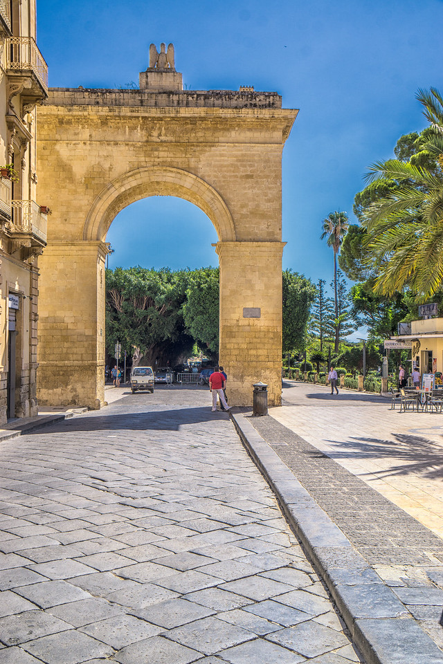 The entance to Noto