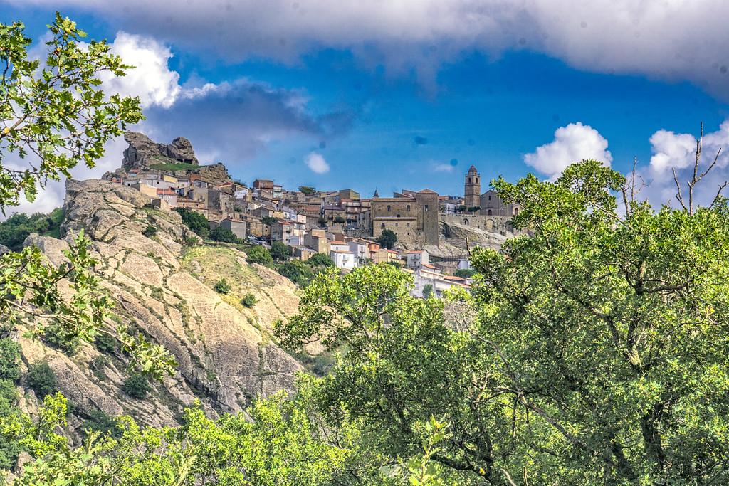 View of Cerami, Sicily