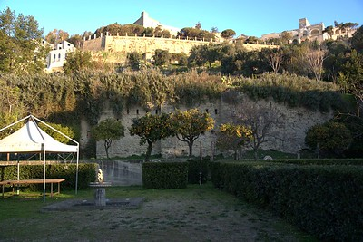 In the Casa Tolentino garden