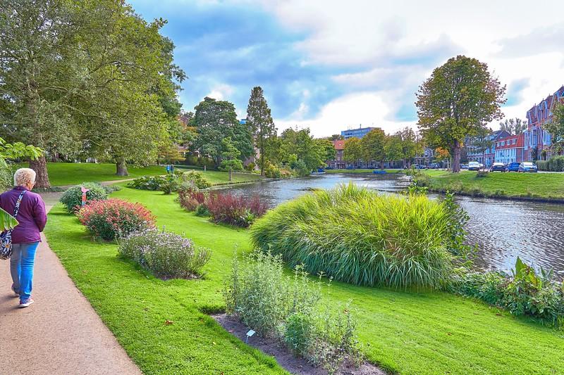 In Leyden the Botanic Garden