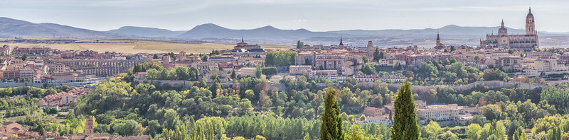 Panorama of Segovia from the Parador