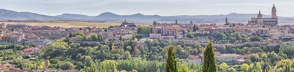 Panorama of Segovia from the Parador