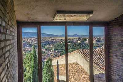 Segovia from inside the Parador