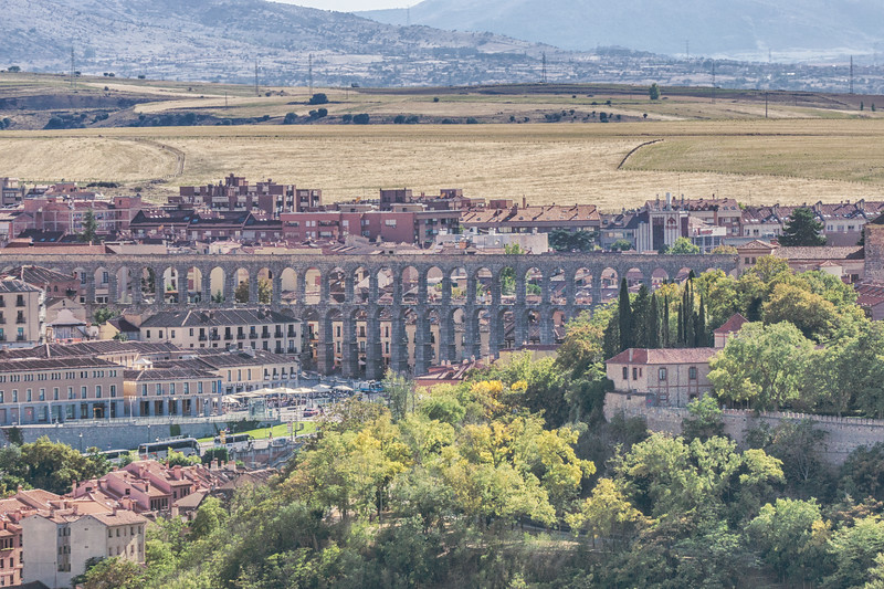 Segovia's roman aqueduct from the Parador