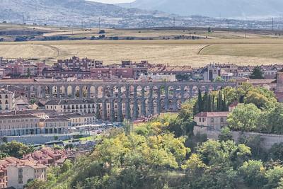 Segovia's roman aqueduct from the Parador