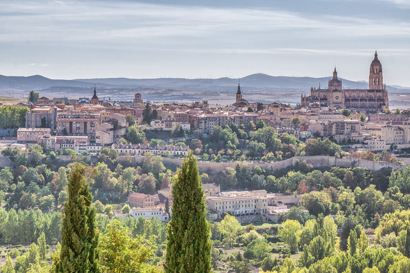 Segovia from the Parador