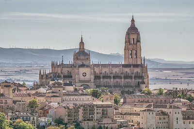 Segovia Cathedral from the Parador