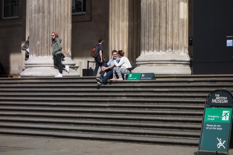 British Museum Steps
