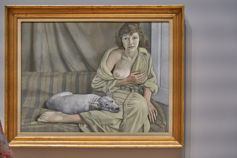 Girl with a White dog 1950 - 1