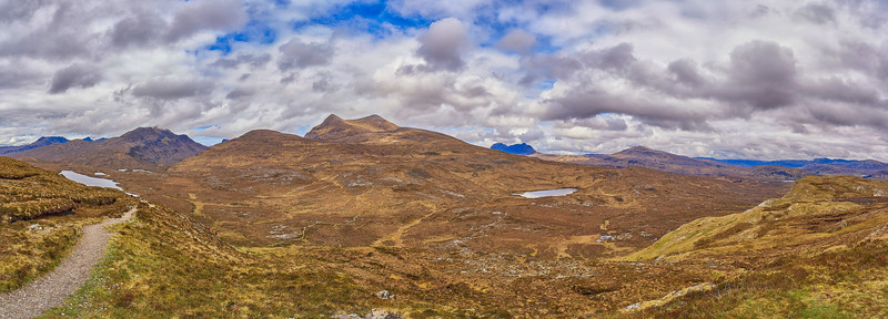 At Knockan Crag National Nature Reserve - Panorama