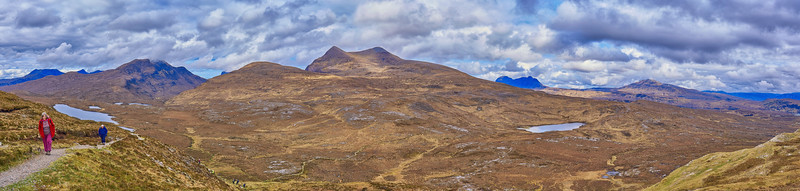 Panorama from Knockan Crag
