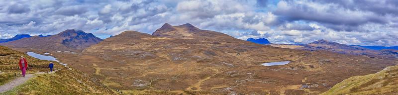 Panorama from Knockan Crag