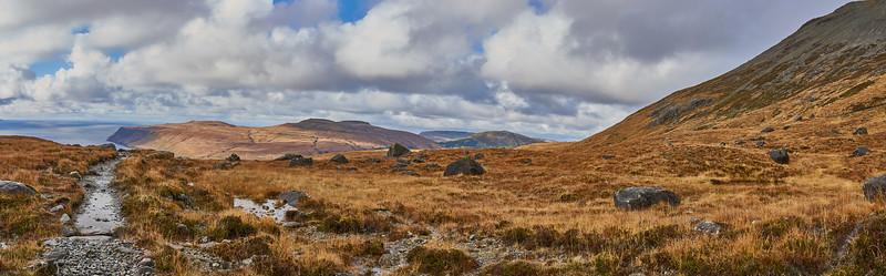 Panorama above Glen Brittle