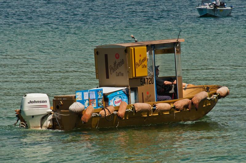 The ice cream boat at Clontarf