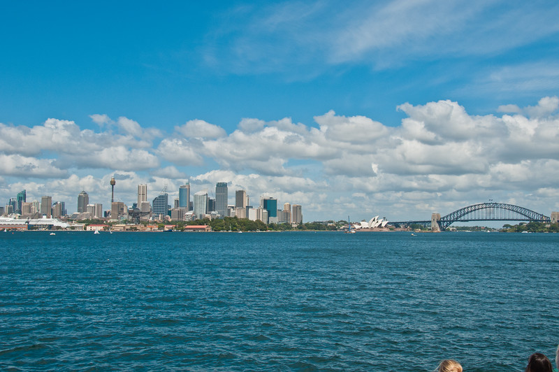 Sydney Opera House and Harbour Bridge and downtown Sydney