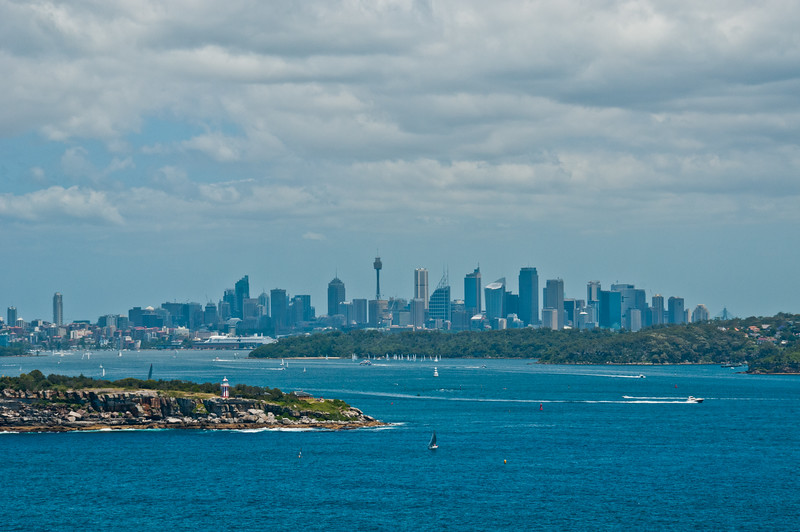 Central Sydney from North Head