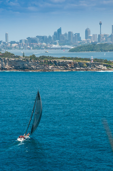Ocean-going yacht entering Sydney Harbour