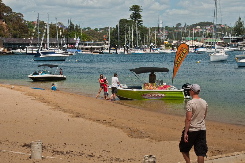 Refreshment boat at Clontarf Reserve