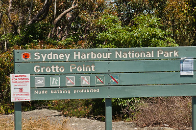 Sign at Grotto Point