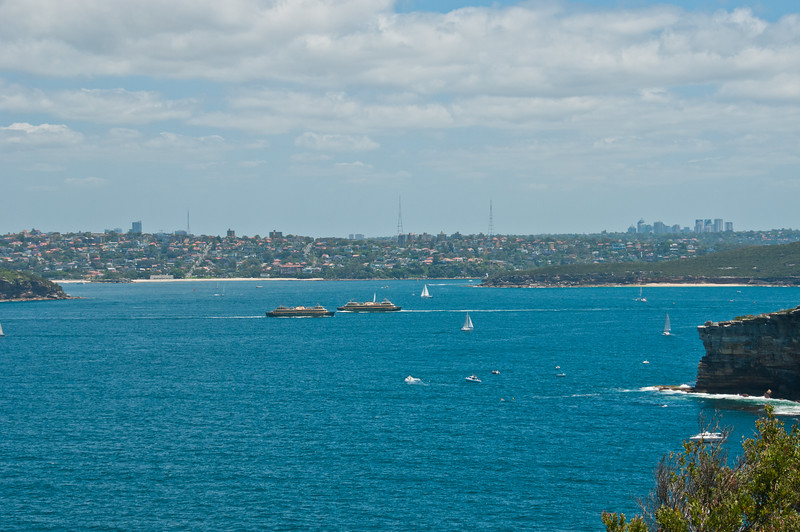 Manly Ferries crossing Sydney Harbour