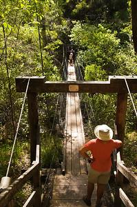 Crossing the Beedlup Creek