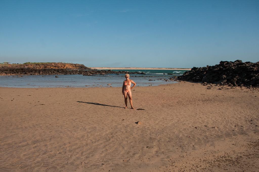 Chris on the beach, Middle Lagoon