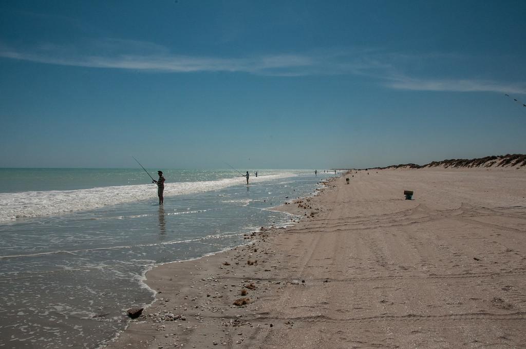 Fishermen at Eighty Mile Beach