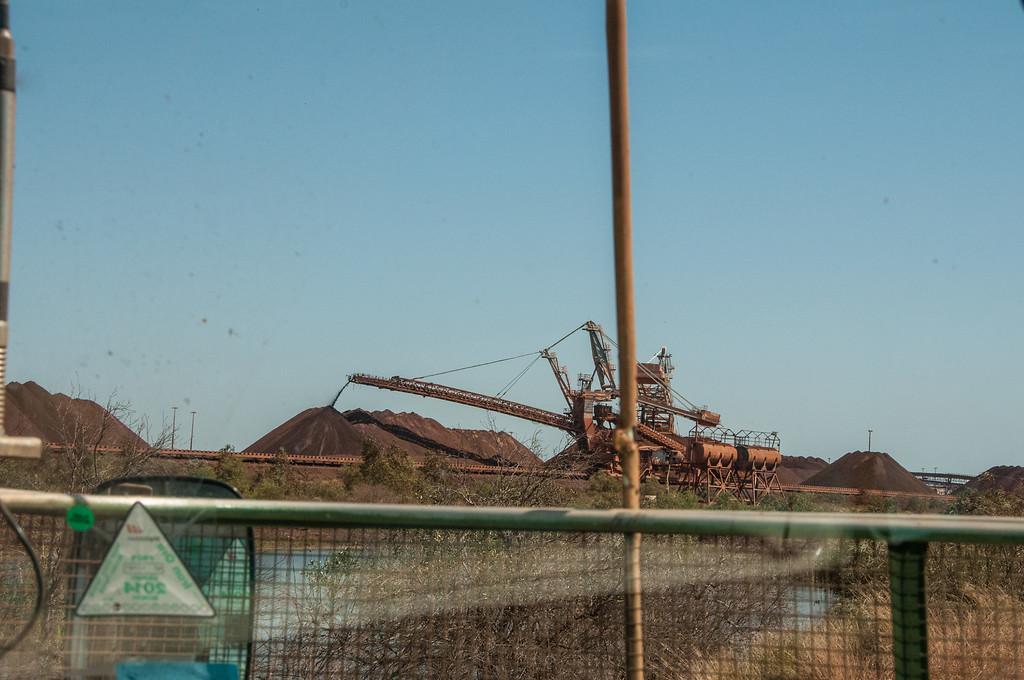 Tour of the ore loading terminal