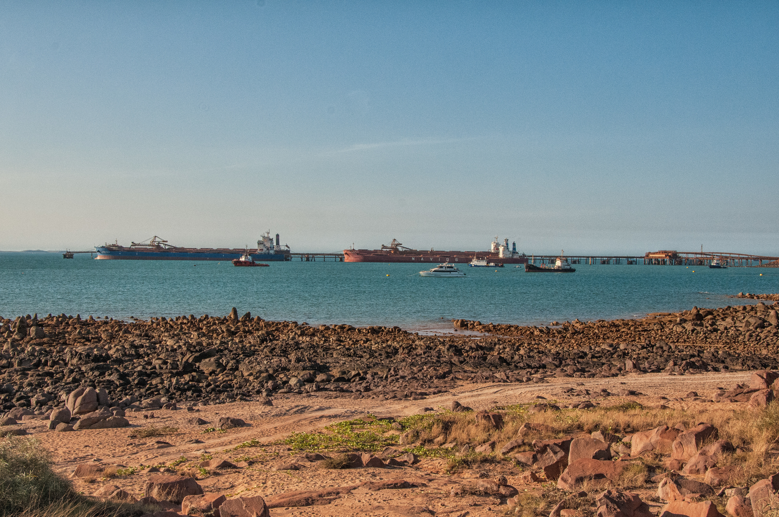 Iron ore loading at Dampier