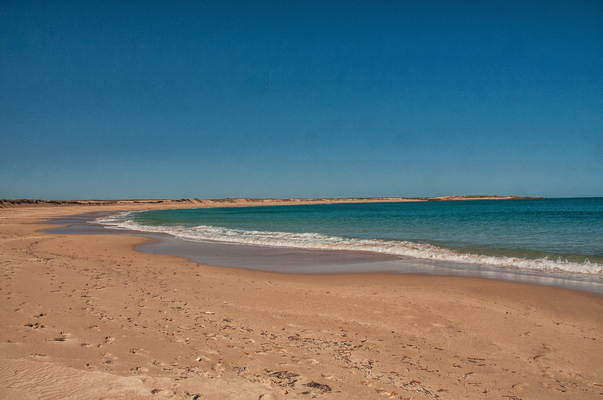 The beach at Middle Lagoon