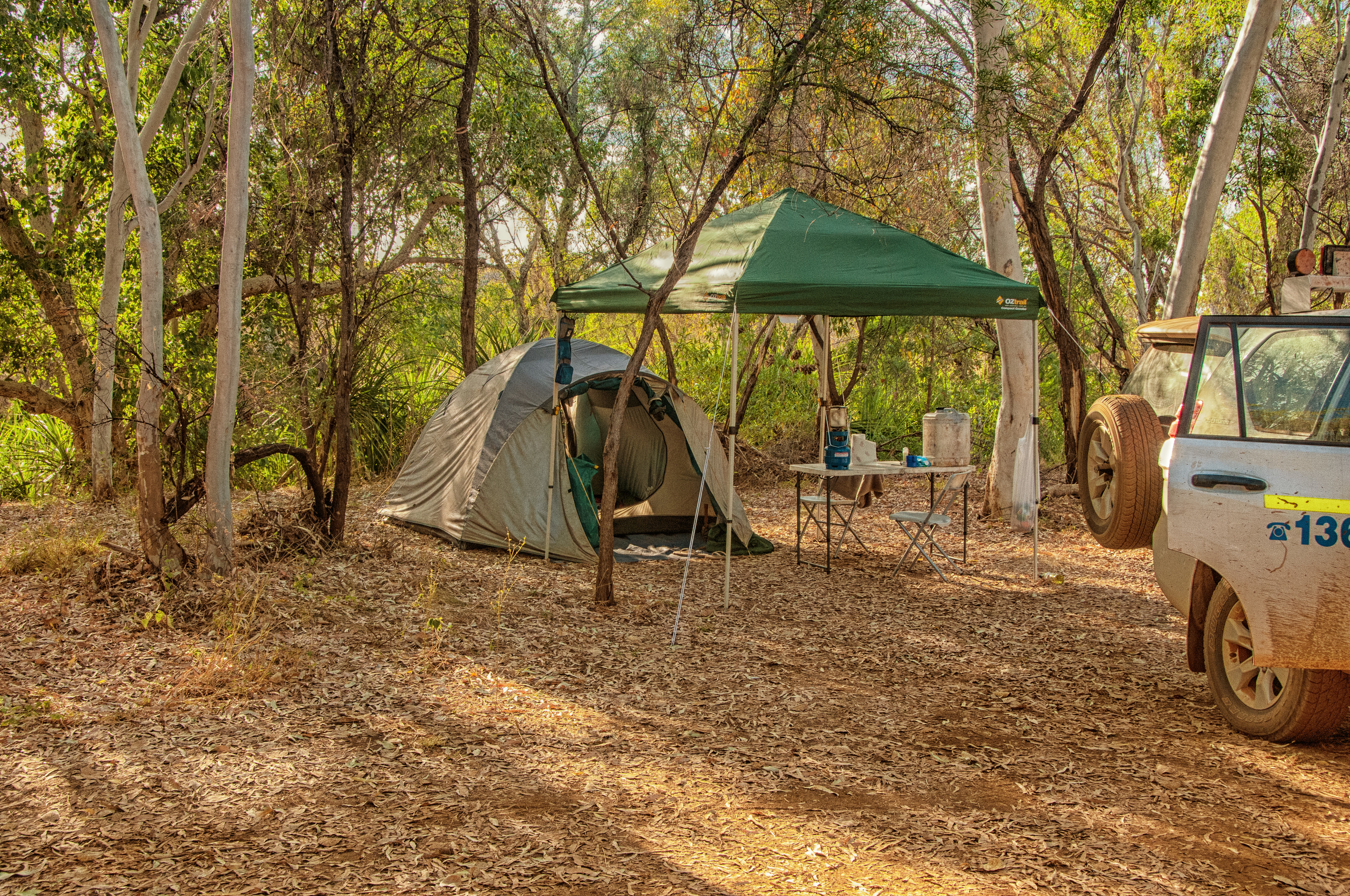 Our camp at Mornington Wildlife Sanctuary