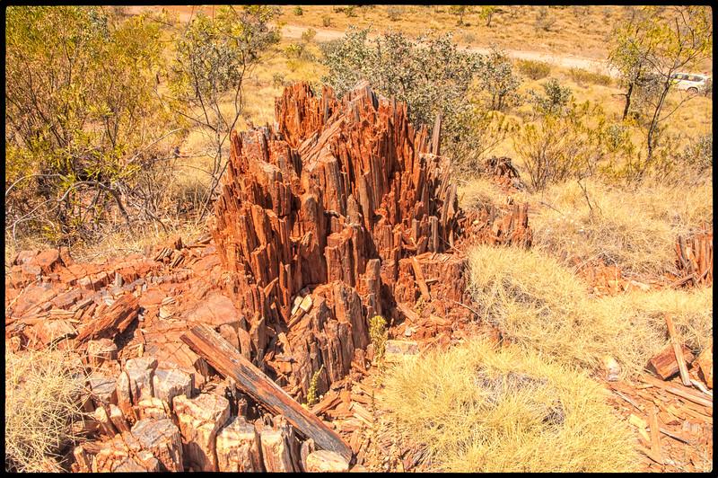 Greenstone stretched vertically