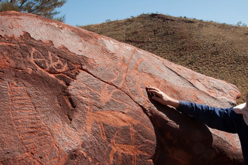 Aboriginal art at Poonda