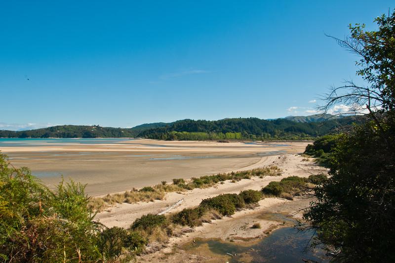 Beach near Marahau - low tide