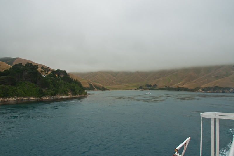 The South Island with cloud cover