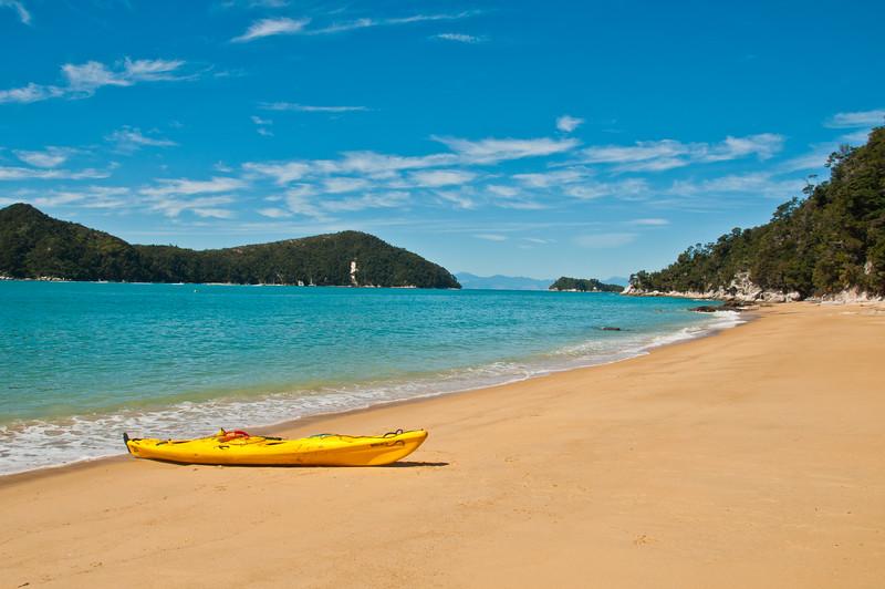 Our kayak on the beach