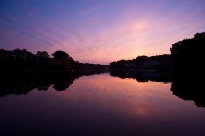 Lake Audubon sunset