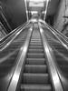 01175 - MTA, 145th station, Bx, escalator, bw